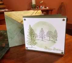 Lovely As A Tree - Masculine birthday with envelope