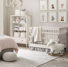RH Baby & Child's Washed Organic Linen Printed & Washed Organic Linen Nursery Bedding Collection