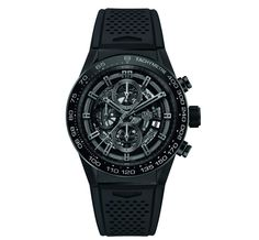 Discover the TAG Heuer Carrera Calibre Heuer 01 Black skeleton Dial & Black rubber Strap Gent Watch with Chronograph 45 mm. Check it out on the official TAG Heuer website. Men's Watches, Sport Watches, Luxury Watches, Cool Watches, Watches For Men, Dream Watches, Fashion Watches, Men's Fashion, Unique Watches