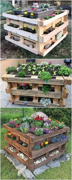 This has been much superb and creative wood pallet garden planter design for you.This has been much superb and creative wood pallet garden planter design for you house. This planter design has been much put# creative # Wood Pallet Planters, Wood Pallets, Garden Pallet, Pallet House, Pallet Fence, Pallett Planter, Garden Ideas With Pallets, Diy With Pallets, Diy Planters Outdoor