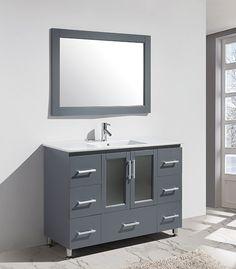 Design+Element+Stanton+(single)+47-Inch+Gray+Modern+Bathroom+Vanity+Set $1099