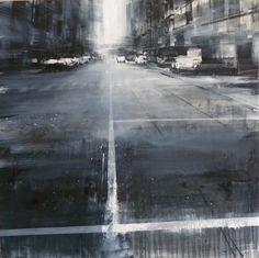 artchipel:  Daniele Cestari - While the City Was Sleeping, I Woke Up. Oil on Linen, 40 x 40