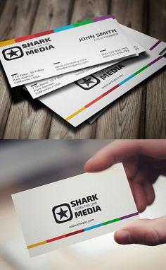 Colorful Business Card #businesscards #businesscardtemplates #printready #corporatedesign