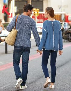 Katia Cotton Vintage men and Big Alabama women jumpers. #BlueJeans Spring · Summer #Colortrend 2015 #KatiaYarns