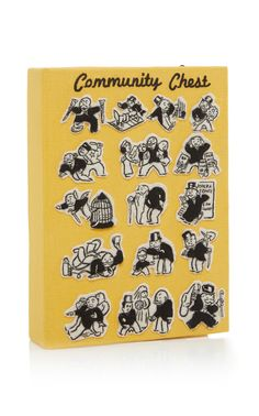 Olympia Le-Tan Community Chest Book Clutch With Strap