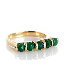 Technibond™ 5-Bead Faceted Corundum Stack Ring
