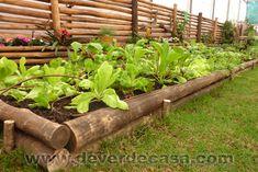 Canteiro de hortaliças elevado com mourões de cerca    Começou, na última quinta-feira, a Expoflora 2012, a maior feira de flo...