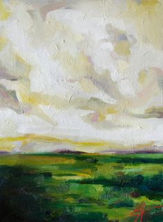 Driving to Greenville: Original Landscape Oil Painting by Emily Jeffords. via Etsy.
