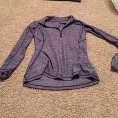 women's Lululemon half zip jacket no rips, tears, stains etc... worn once , tag was ripped out but sure of size lululemon athletica Tops Sweatshirts & Hoodies