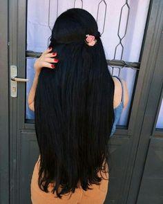 Black Hair ℳanmathan January 16 2019 at 10 Long Black Hair, Dark Hair, Brown Hair, Beautiful Long Hair, Shoulder Length Hair, Dream Hair, Super Long Hair, Hair Looks, Straight Hairstyles