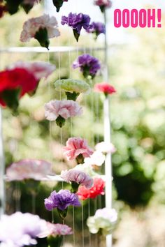 A Practical Wedding | How To: Carnation Backdrop