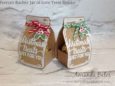 "The Craft Spa - Stampin' Up! UK independent demonstrator - Order Stampin Up in UK: Christmas ""Chocolate Ball"" Treat Holder Jar Christmas Favors, 3d Christmas, Christmas Paper Crafts, Christmas Chocolate, Stampin Up Christmas, Handmade Christmas, Christmas Games, Christmas Ideas, Cadeau Surprise"
