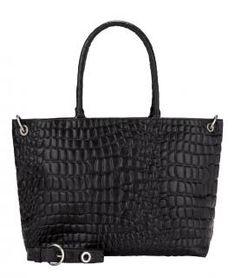 Liebeskind Shoppertasche Waxy Croco schwarz Prägung Leder - Bags & more