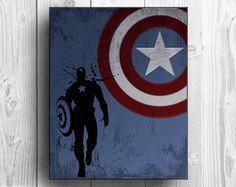 Captain America Inspired Custom Design Poster Print by tkbdesigns on Etsy