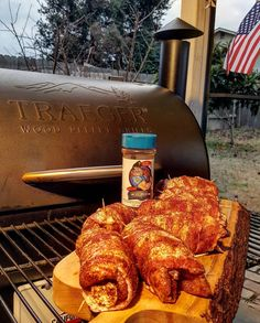 Making America Tasty Again!! - Love this shot from our very good friend @traegerman_bbq! Here's a guy who definitely deserves some more followers and love on his page. Check him out! - Bacon Wrapped Chicken Thighs Stuffed with Butter Onion and Chive Cream Cheese. Seasoned inside and out with our Code3 Spices Sweet&Zesty 5.0 Rub! We will follow up on these bad boys later on!