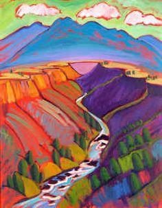 Jill Pease, Southwest Art ~ inspiration for a landscape quilt