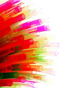 neon straws for party
