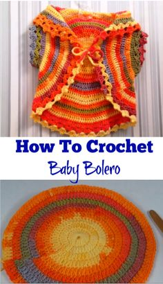 how to crochet baby bolero
