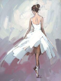 Acryl-Malerei Original Gemälde Ballett-Tänzerin von kookaa auf Etsy
