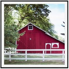 Pottery Barn Red Barn in Summer Framed Print by Cindy Taylor ($399) ❤ liked on Polyvore featuring home, home decor, wall art, home wall decor, red home accessories, pottery barn and red wall art