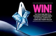 Win 1 of 24 Thierry Mugler Fragrance Hampers worth each Thierry Mugler, Hampers, Competition, 31 March, Fragrance, Perfume, Cosmopolitan, Cook, Board