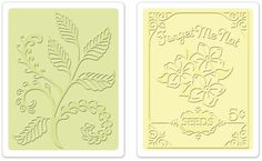 Sizzix Textured Impressions Embossing Folders - 2 Pack - Ferns & Seed Packet Set (By Jen Philipsen)