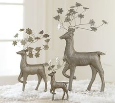 Pressed Tin Floral Reindeer - Modern - Holiday Decorations - by ...