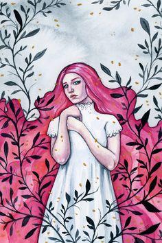 Ellen Wilberg, watercolor and gouache