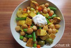 Fotorecept: Cícerovo-olivový šalát s tofu