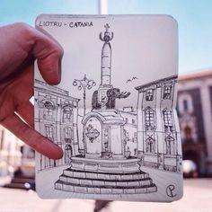 Live city Sketch il progetto che coniuga fotografia e disegno e immortala la Sicilia   LASICILIA.IT
