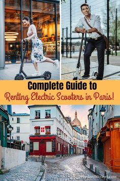 Renting an electric scooter in Paris is so much fun! See all the beautiful sights of Paris while having fun too. Check out this complete guide for all you need to know about e-scooters in Paris! Paris France Travel, Paris Travel Guide, Europe Travel Tips, European Travel, Travel Guides, Travel Destinations, Travel Packing, Travel Couple, Family Travel
