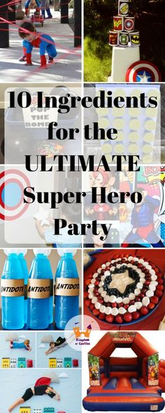 Ultimate Super Hero Party Guide - Kingdom of Castles