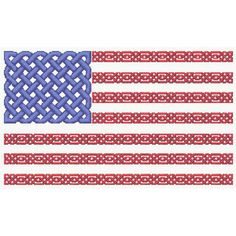 Counted Cross Stitch Pattern Celtic Knot Us Flag Patriotic PDF Cs0897