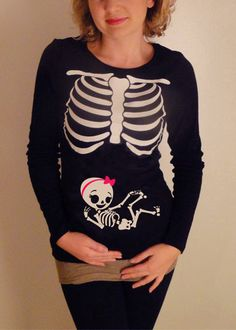Halloween Skeleton Shirt Halloween Costume by CutsieTootsieApparel, $34.95