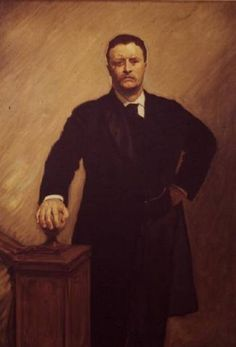 John Singer Sargent - Portrait of Theodore Roosevelt