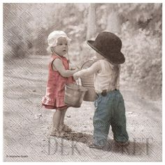 Znalezione obrazy dla zapytania serwetki decoupage z dziećmi