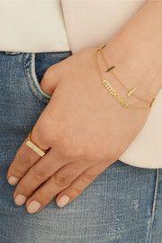Jennifer MeyerEmpower 18-karat gold bracelet