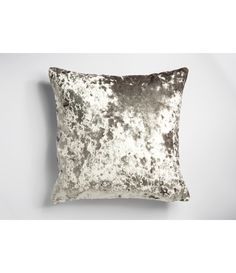 Moulin Deep Crushed Velvet Reversible Silver Cushion Cover