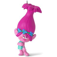 DreamWorks Trolls Princess Poppy 2016 Hallmark Keepsake Christmas... ($13) ❤ liked on Polyvore featuring home, home decor, holiday decorations, black, black christmas ornaments, plastic ornaments, hallmark ornaments, hallmark xmas ornaments and plastic christmas ornaments