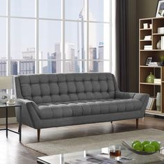 Response Fabric Sofa Gray : laguna sectional sofa - Sectionals, Sofas & Couches