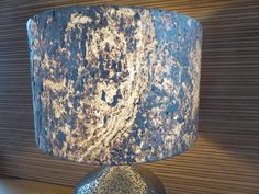 Stone Veneer Lampshade Copper With Translucent Lining Real Stone Veneer, Clear Resin, Boarders, Patterns In Nature, Lampshades, 10 Days, Bespoke, Highlights, Glow