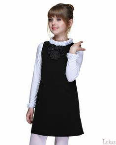 школьная форма - Lukas-Kids Luxury Kids Clothes, Big Girl Clothes, Little Girl Outfits, Tween Fashion, Baby Girl Fashion, School Fashion, School Dresses, Girls Dresses, Girls Pinafore Dress