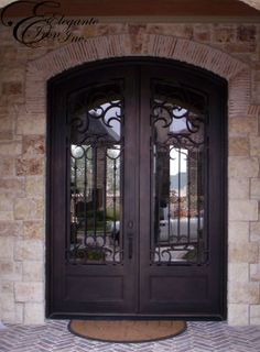 Wrought Iron Glass Door Irish Iron (916) 473-1282 Serving Sacramento CA & FLAMINGO BAY WROUGHT IRON GLASS DOOR INSTALLATION | WROUGHT IRON ...