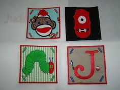 SAME Monogram: Applique Patches, Tags, Tabs are my new favorite thing!!