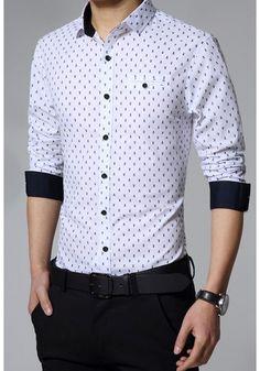 Micro Skull Dot Long-Sleeve Shirt |Clothes