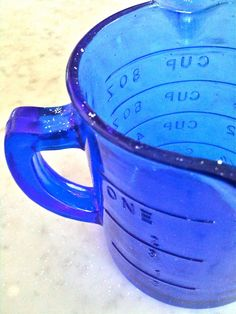 Measuring in blue.
