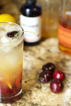 Cherry Bourbon Lemonade #SundaySupper | The Girl in the Little Red Kitchen