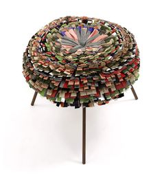 Stool produced from recycled material by the Campana Brothers - I remember sitting on an ottoman that great grandma had that this reminds me of