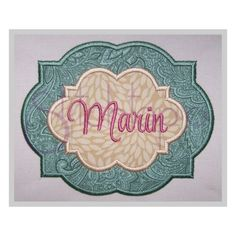 Stitchtopia Quat Double App Frame 2 FabricAdd a name, phrase or design to the center!  Pictured with our Mayah Monogram Set – sold separately. Sizes:  4″, 5″, 6″, 7″, 8″, 9″, 10″