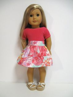 American Girl Doll Clothes Summer Pastel by 123MULBERRYSTREET